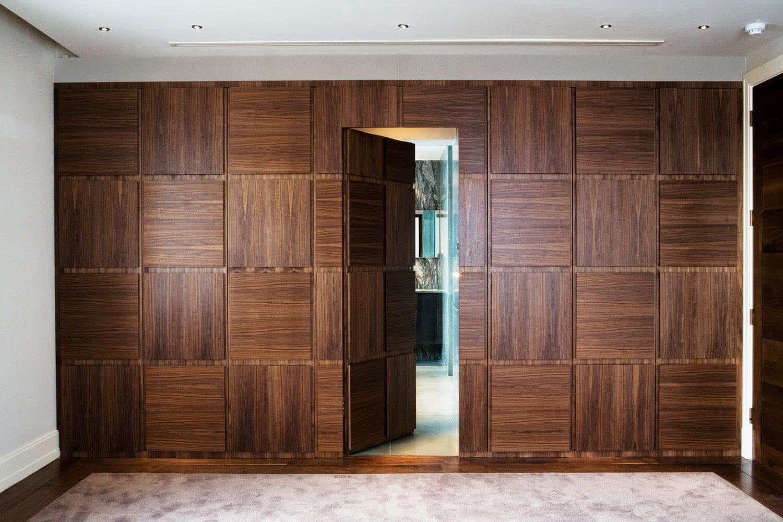 как межкомнатные двери отделать панелями с фото если